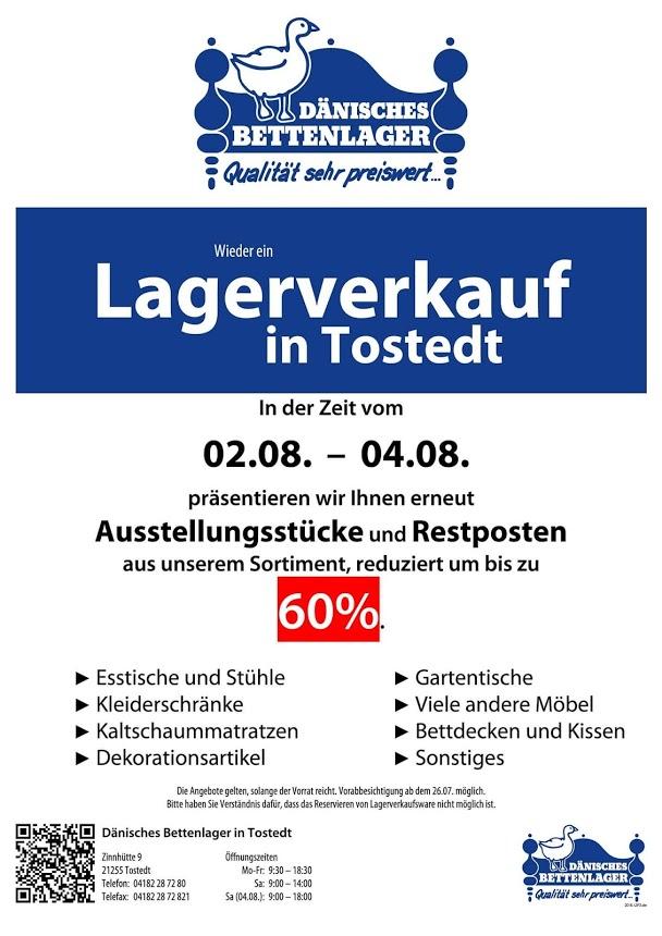 [Lokal Tostedt] Lagerverkauf im Dänischen Bettenlager bis zu 60% Rabatt
