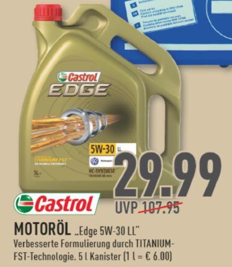 [Lokal Marktkauf] Castrol EDGE Titanium FST 5W-30 LL 5 Liter Motoröl für 29,99€