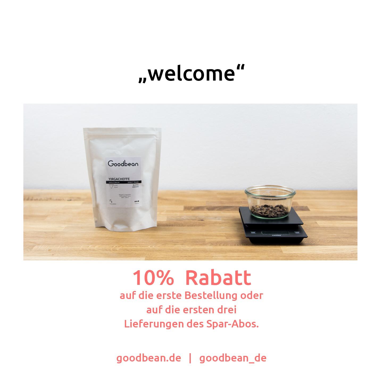 Bis zu 15% Rabatt auf fair gehandelten Kaffee bei goodbean.de