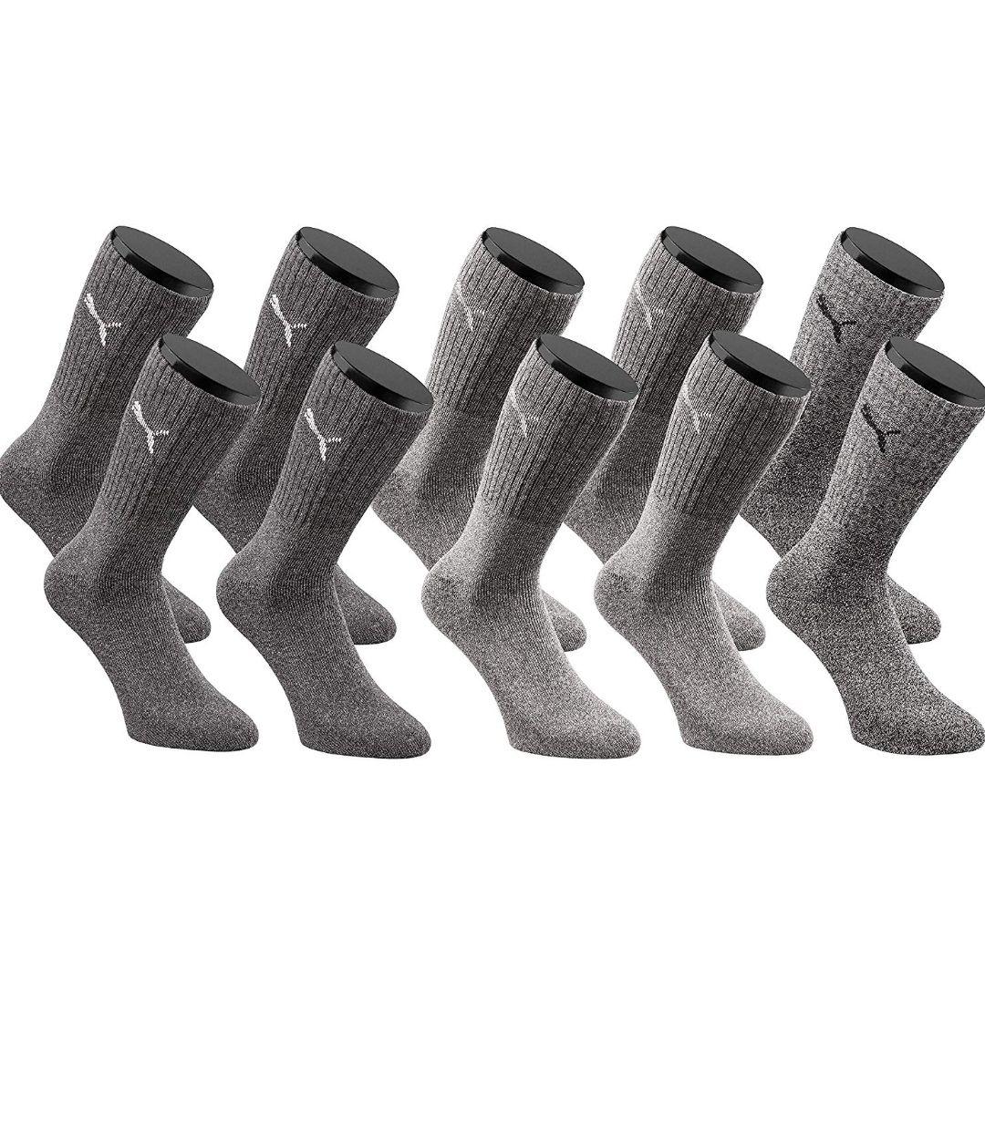 (Amazon Blitzangebot)  Puma Sport Crew Socken Sportsocken 10-Paar-Pack Unisex