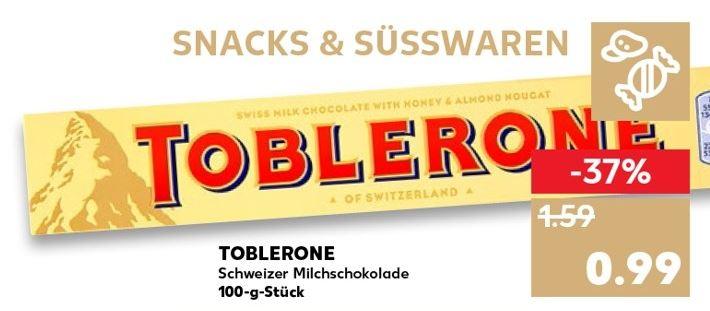 [Kaufland] Toblerone Schweizer Milchschokolade - 100g - ab 02.08.