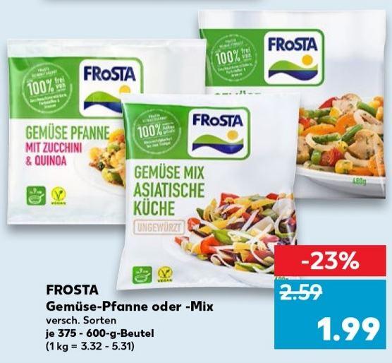 [Kaufland] Frosta Gemüsepfanne oder -Mix - ab 02.08.