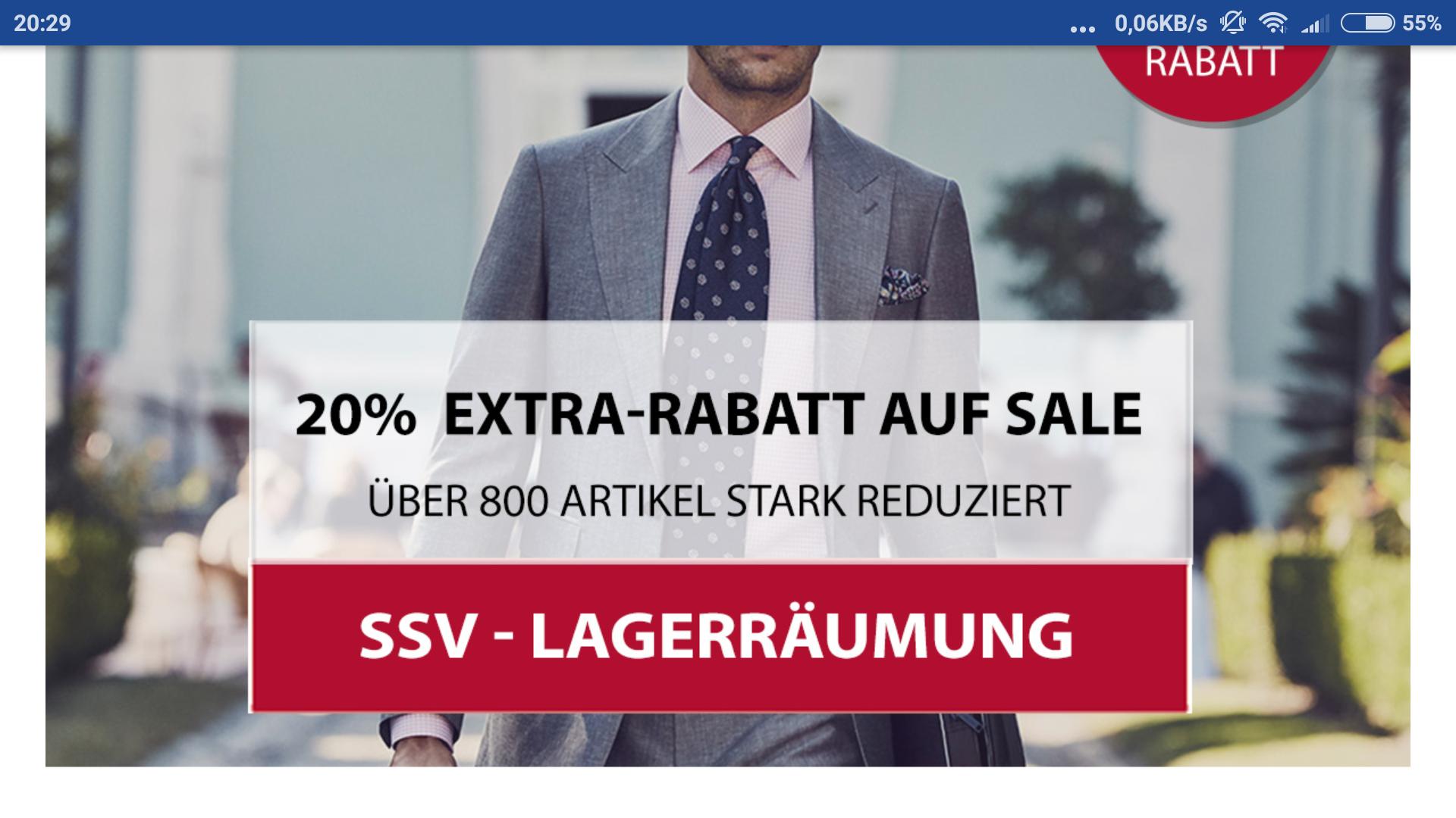 20% bei Hemden.de - Summer-SALE