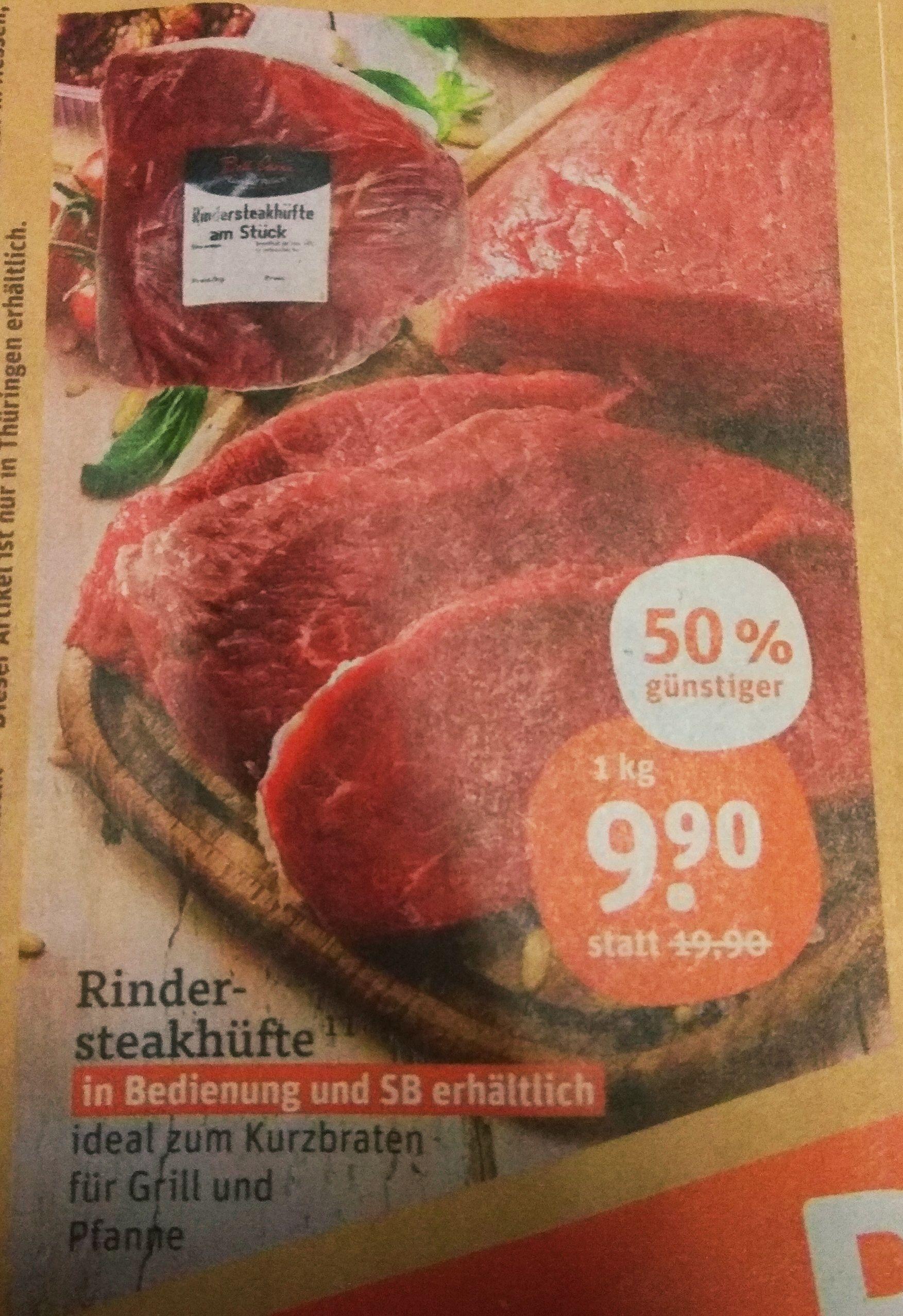 [Tegut] Rinderhüfte Kilopreis 9.99€