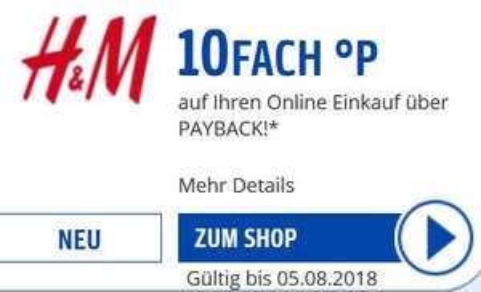 [H&M] 10fach Payback Punkte bei H&M
