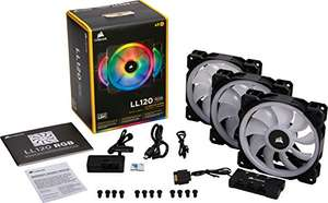 Corsair LL120 RGB PWM - 3 Lüfter Pack mit Lighting Node Pro​