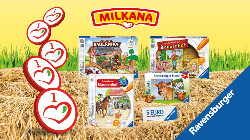 """tiptoi Buch """"Entdecke den Bauernhof"""" mit Milkana-Herzchen (Norma-Angebot)"""
