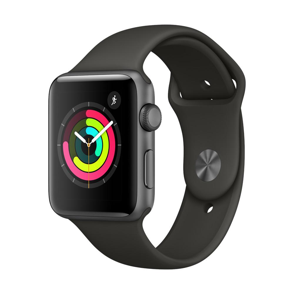 APPLE Watch Series 3, 42 mm, GPS, Sportarmband, Grau/Grau für 282,22€ bei [Microspot CH]
