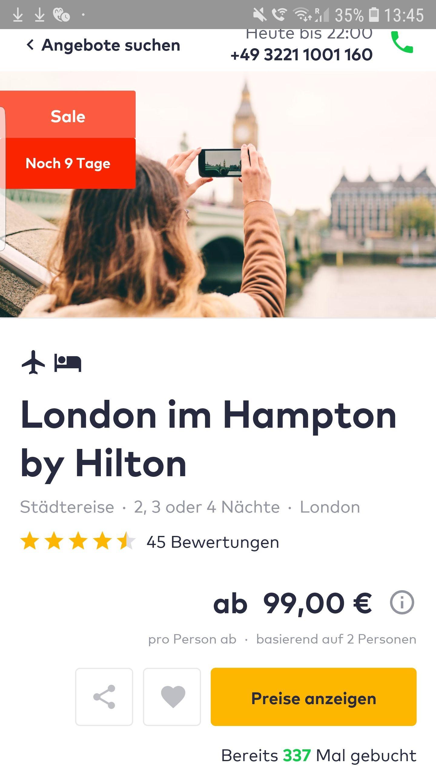 Kurztrip London (2 Personen)