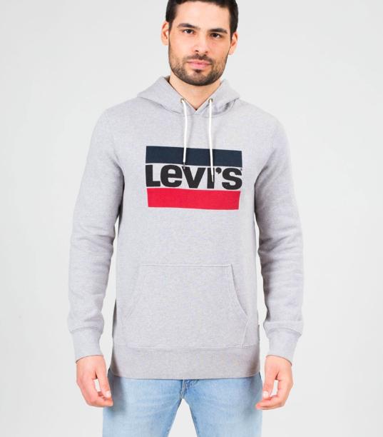 Final Sale bei Kauf dich glücklich mit bis zu 70% Rabatt + gratis Versand ab 25€, z.B. Levi's Graphic Po Pullover midtone grey