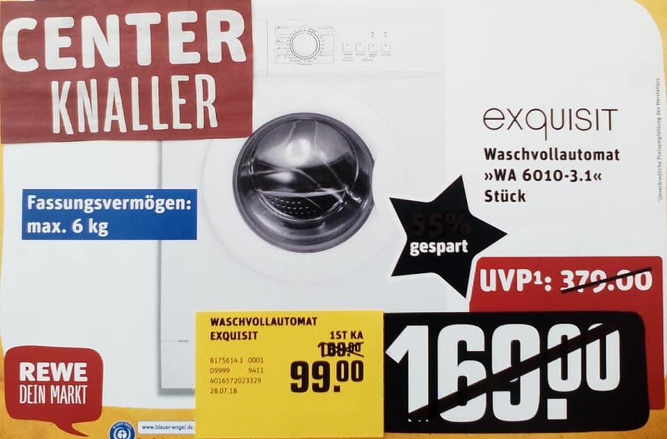 "[REWE]Waschmaschine Exquisit WA 6010[+ 40"" Blaupunkt TV+ 46l Minikühlschrank][Lokal]"