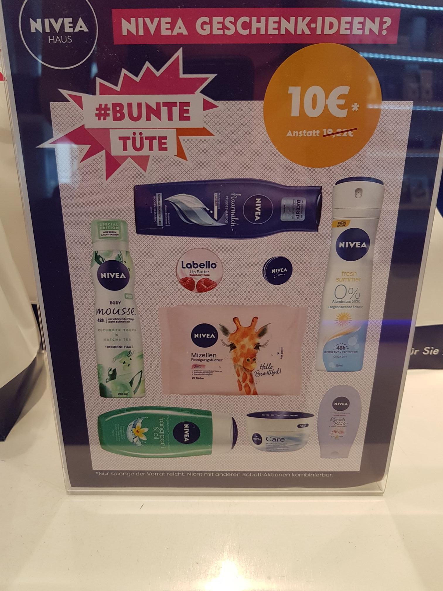 (LOKAL) Nivea Produkte Hamburg für 10 €