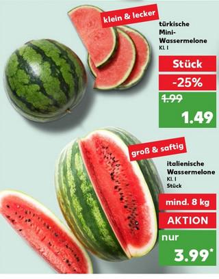 [Kaufland] Wassermelonen für 4 Euro (mindestens 8 KG, lokal ab 10KG)