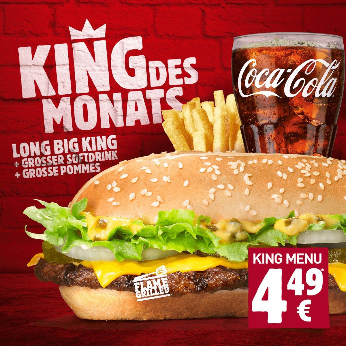 Long Big King mit großer Pommes und Softgetränk für 4,49 Euro