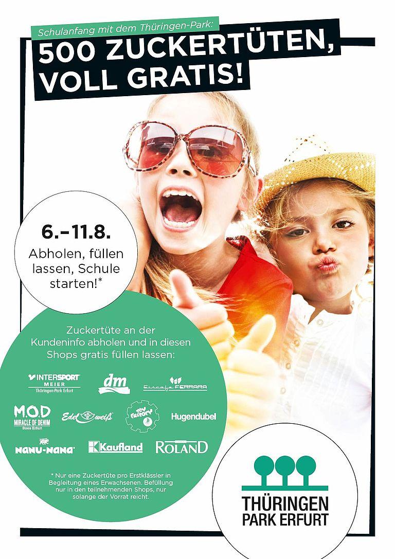 gratis Zuckertüte mit Präsenten von 10 Shops [ERFURT\Thüringen Park]