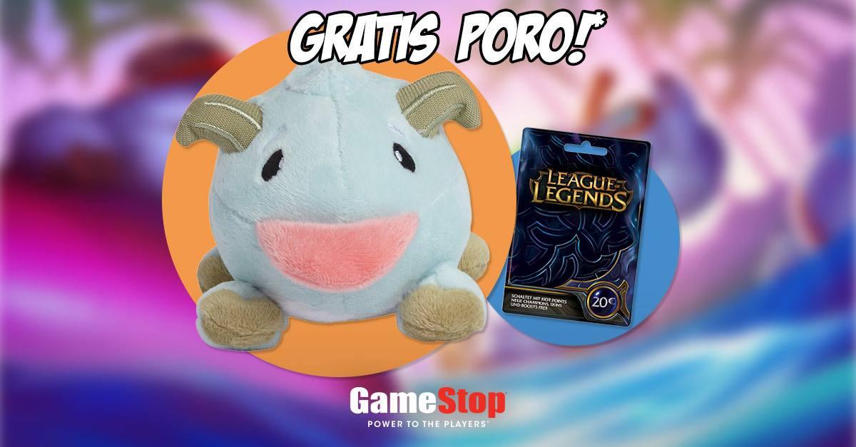 [Gamestop Filiale] Gratis Poro beim Kauf von 20€ League of Legends Guthaben