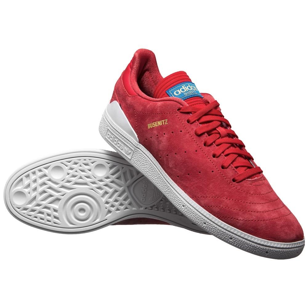 Adidas Originals Busenitz RX Skateboard Schuhe in rot (Größen 39 1/3 bis 48 2/3)