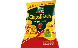Chipsfrisch ungarisch von funny-frisch XXL 290g-Packung ab Donnerstag bei Netto Markendiscount.