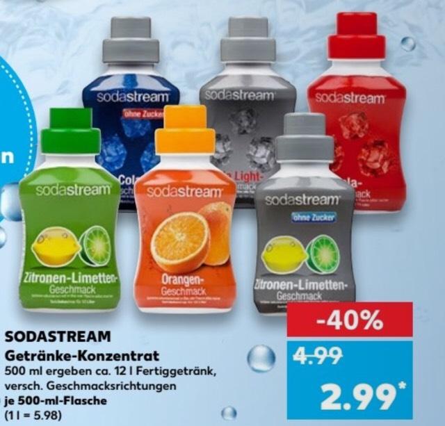 [Kaufland] Sodastream Getränke-Konzentrat (Sirup) versch. Sorten für 2,99€ (Lokal, Berlin)