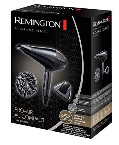 Remington AC5911 Ionen-Haartrockner Pro-Air Compact, 2200 Watt, kompaktes Design, zwei Stylingdüsen, Diffusor für 23,62€ (Amazon Prime)