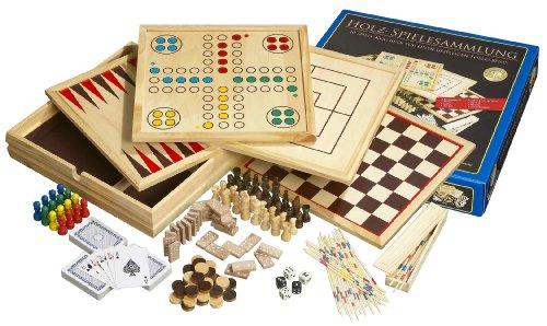 Holz-Spielesammlung mit 10 Spielmöglichkeiten!