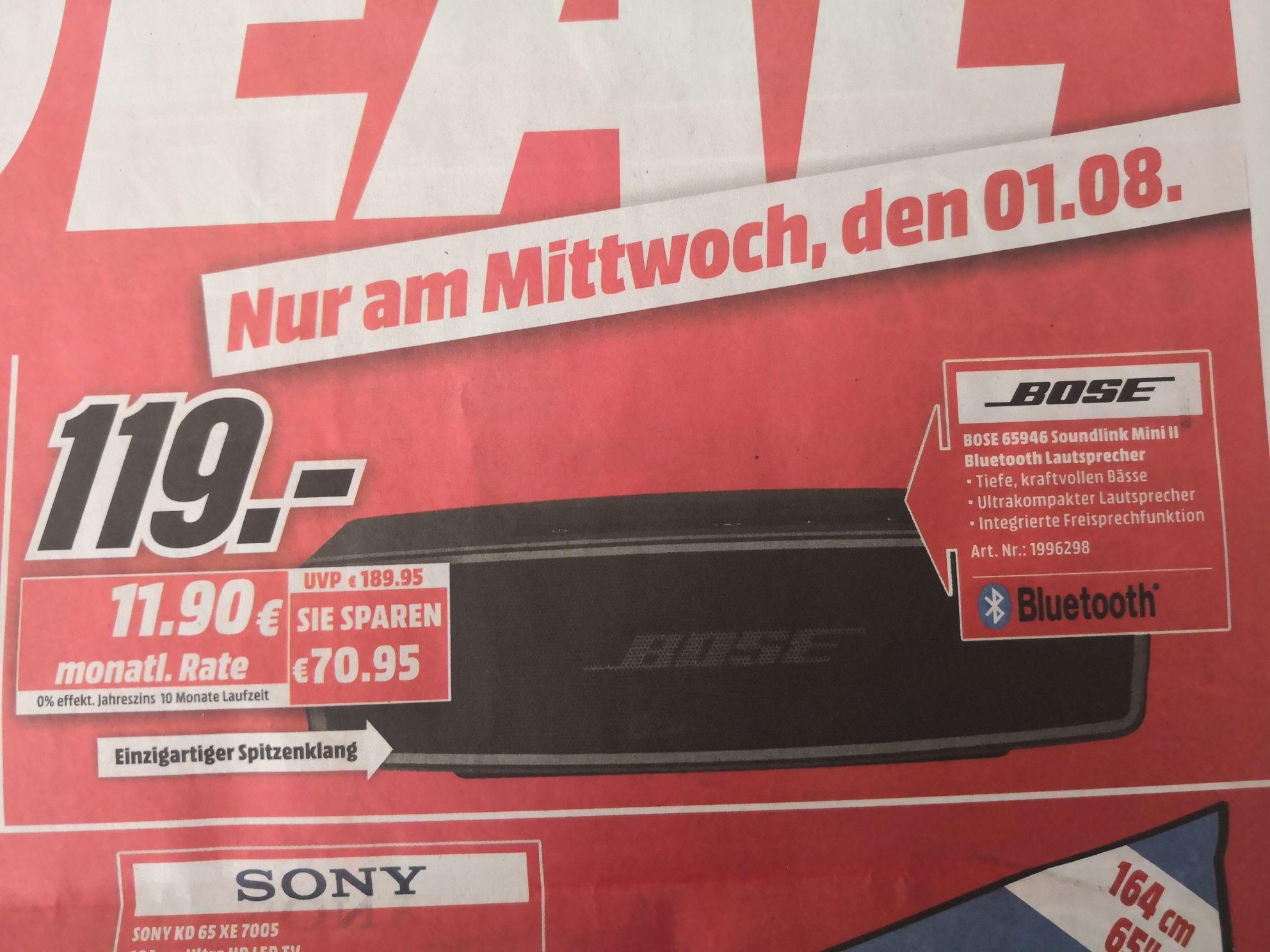 [Lokal MM Essen] Bose Soundlink Mini 2 für 119€