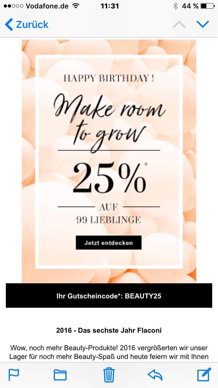 25% auf 99 Produkte bei Flaconi