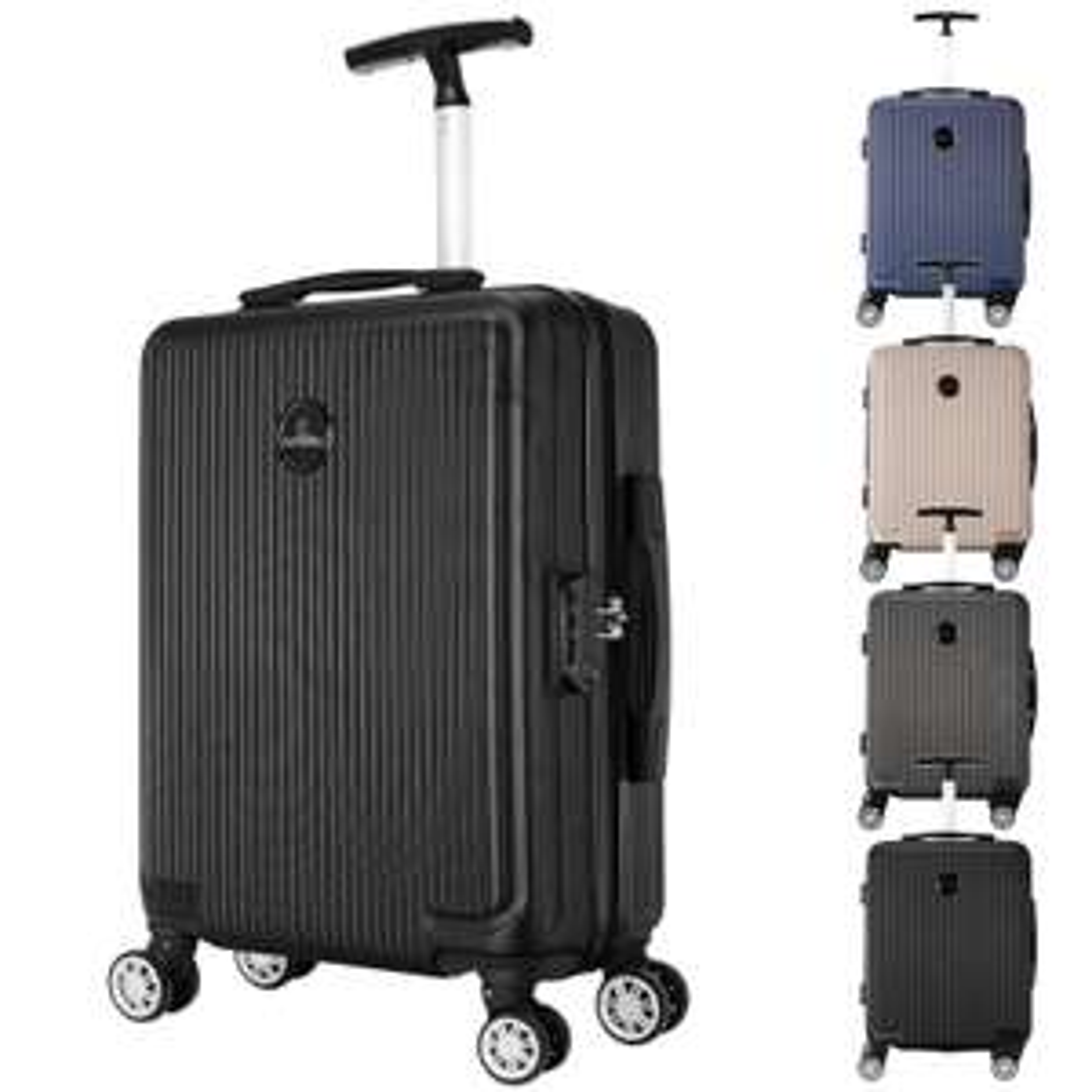 WOLTU  Hartschalen-Trolley schwarz, 55x40x20, für alle (Billig-) Airlines geeignet