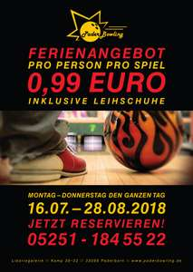 [Lokal Paderborn] Paderbowling bowlen für 99 Cent pro Spiel Montag-Donnerstags