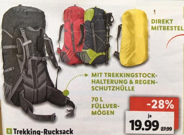 Crivit Trekking-Rucksack / Backpack 60+10 Liter ab 1.8. bei Lidl Online
