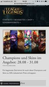 League of Legends Champions und Skins im Angebot: 28.08 - 31.08