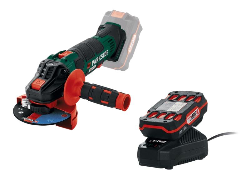 PARKSIDE® Akku-Winkelschleifer PWSA 20-Li B2 + Akku PAP 20 A1 + Ladegerät PLG 20 A1 & PARKSIDE® Akku-Multifunktionswerkzeug für 14,99€