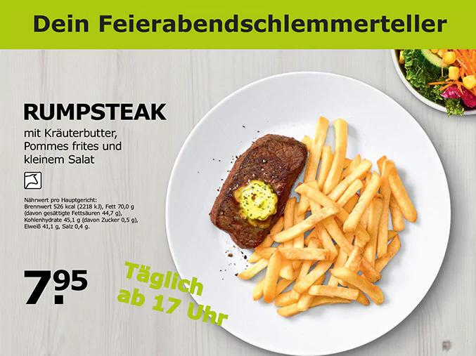 Täglich ab 17 Uhr: 180g Rumpsteak bei IKEA deutschlandweit