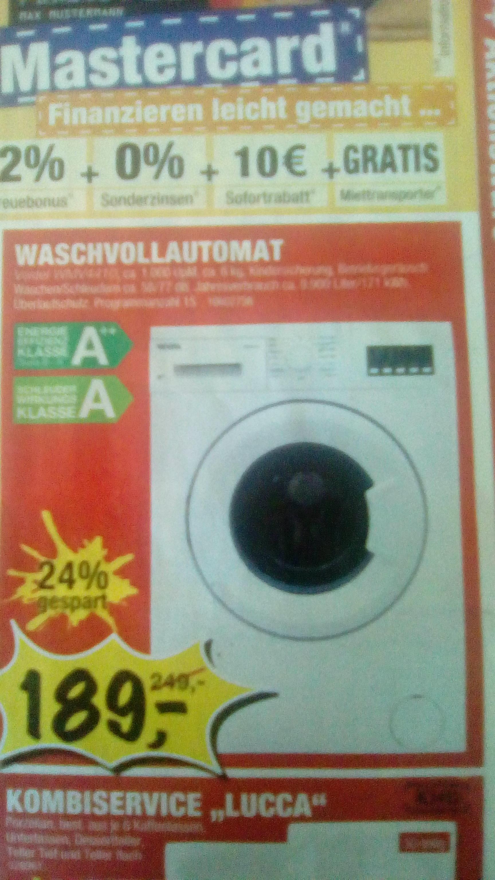 [Sconto offline] Eine günstige Waschmaschine für Einsteiger