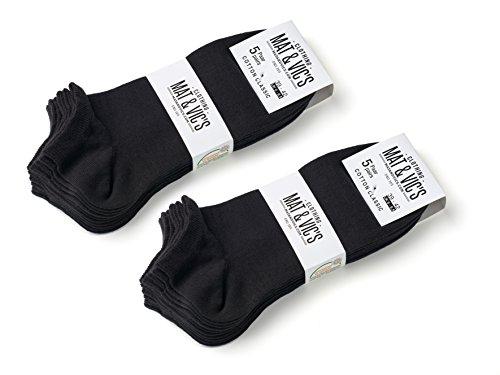 [Amazon Prime] 10x 10 Paar Sneaker Socken von Mat & Vic's 35 36 37 38 39 40 41 42 43 44 45 46 47 48 49 50