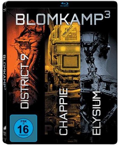 Chappie / District 9 / Elysium Blomkamp 3 Box - Limited Edition Steelbook (Blu-ray) für 9€ versandkostenfrei (Media Markt)