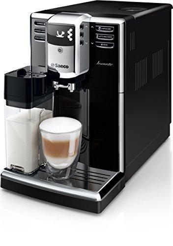 Amazon Saeco Incanto HD8916/01 Kaffeevollautomat (AquaClean, integriertes Milchsystem) schwarz