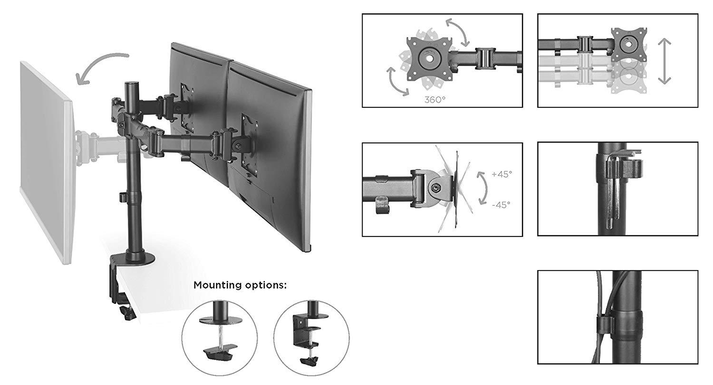 [amazon.de]RICOO Monithalterung TS5811 für zwei Monitore   Für 3 Monitore 50,39€