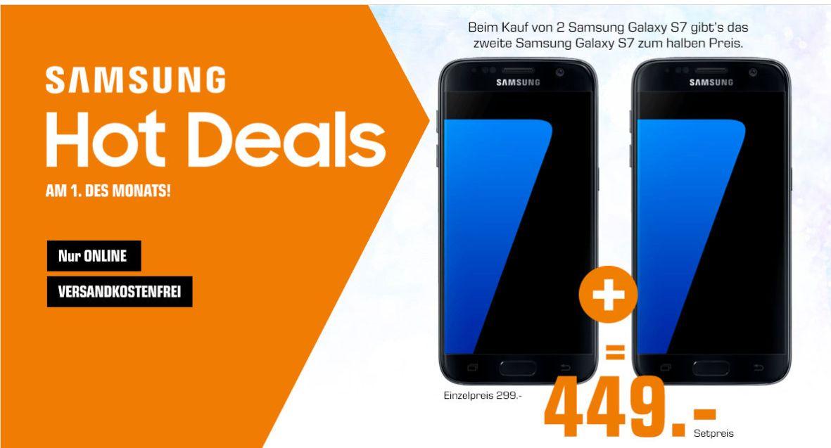 [Saturn Österreich] 2 x Samsung Galaxy S7 im Bundle für 459,-€ inc. Versand nach Deutschland