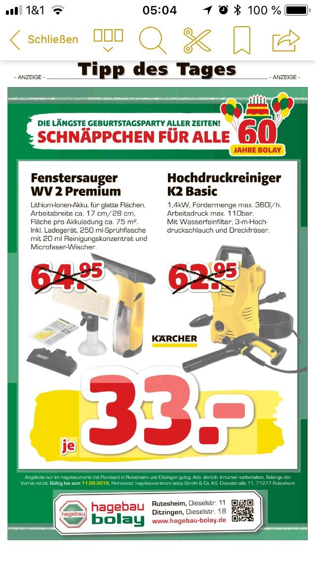 [lokal Leonberg] Kärcher WV2 Premium