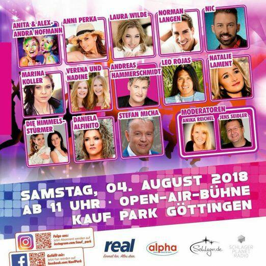 Göttingen Kaufpark - Schlagerfestival 2018 - Eintritt frei am 4.8.2018