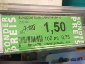 Green Label Preise ab 1.8. (Rossmann bundesweit)