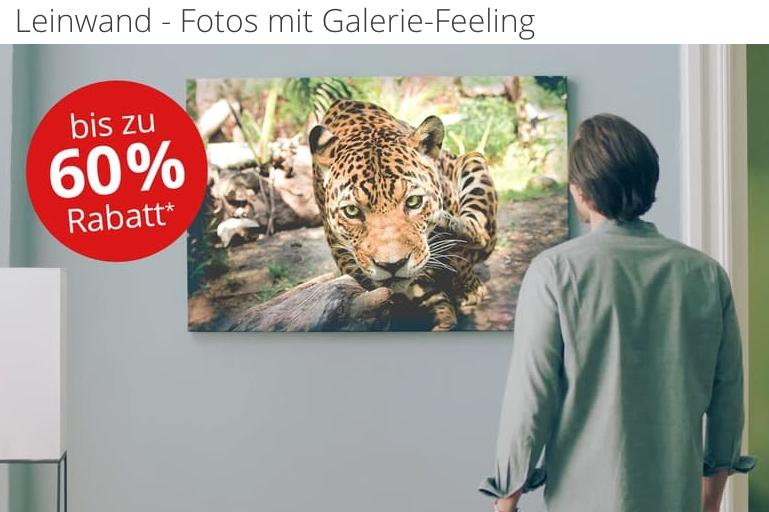 PosterXXL: Leinwände bis zu 60% billiger (z.B. 105x70cm 39,99 statt 89,99), Fotobücher bis zu 50%
