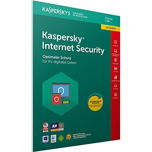 Kaspersky Internet Security 2018 Upgrade | 3 Geräte | 1 Jahr  [Box] [Amazon.de]