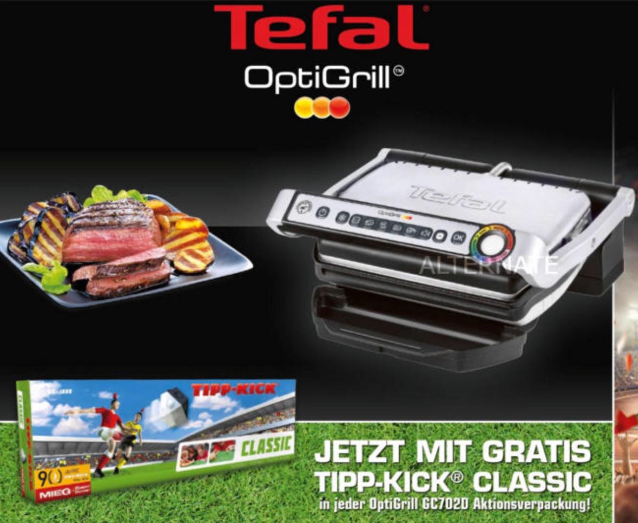 [Alternate] Tefal Optigrill GC 702D mit TIPP-KICK CLASSIC für 77,89€ inkl. Versandkosten mit MasterPass
