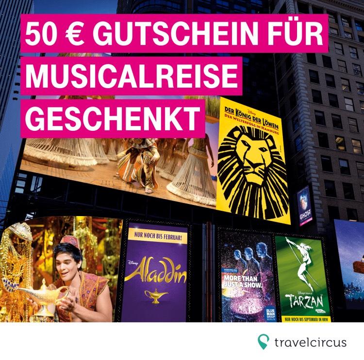 50€ Gutschein für Musicalreise geschenkt bekommen (auch für nicht Telekom Kunden)