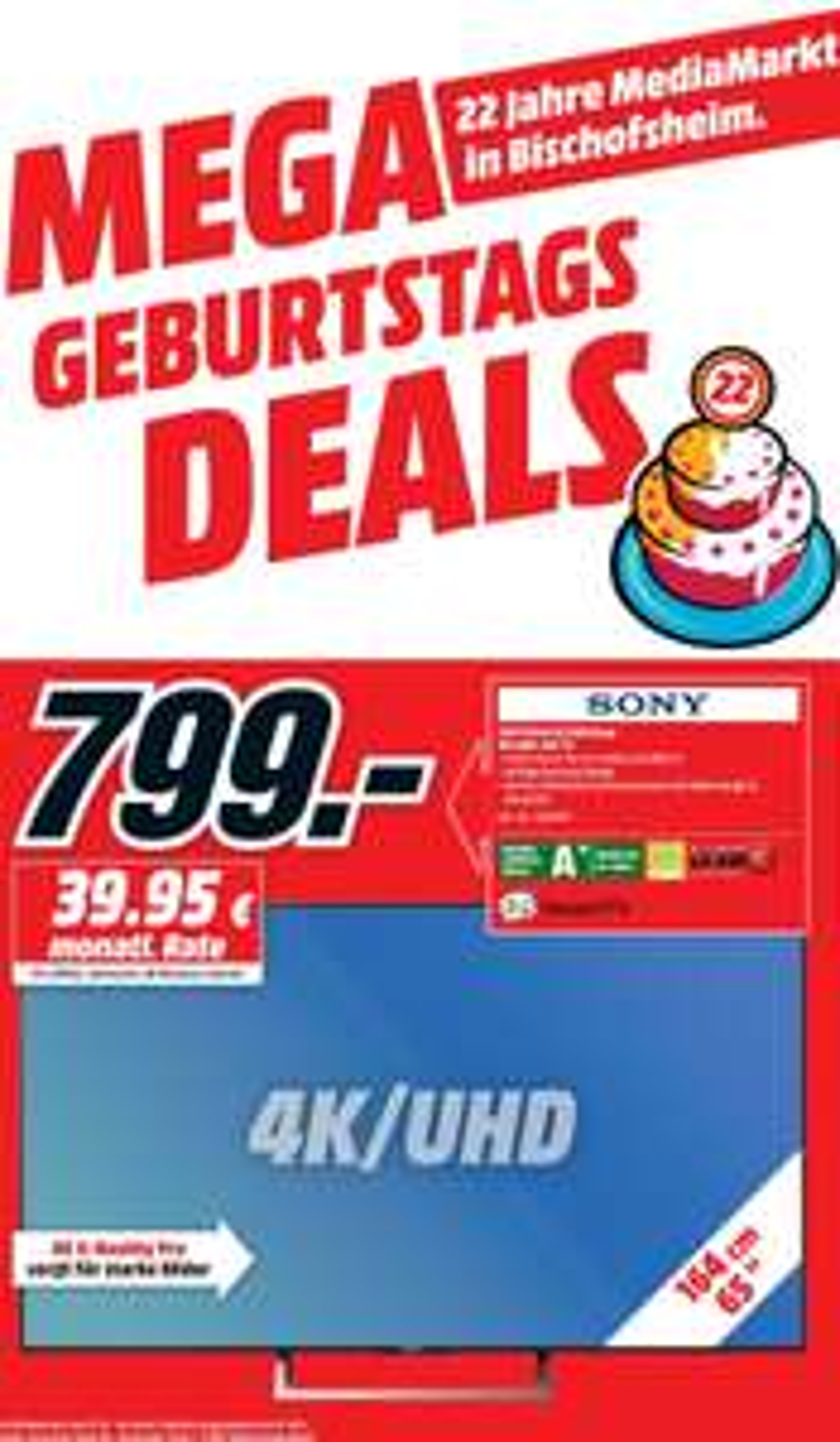 Sony 65XE7005, 65 Zoll 4K TV, lokal
