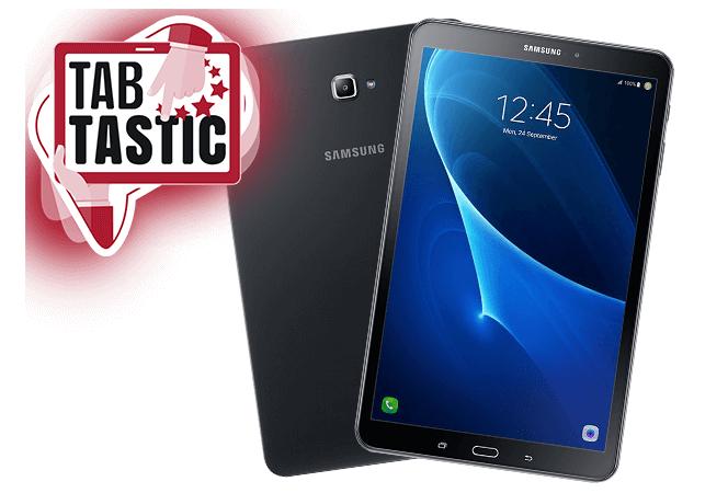 Samsung Galaxy Tab A 10.1 32GB LTE in schwarz oder weiß + Blau 3GB LTE Allnet für insgesamt 248,76€ oder mit 4GB LTE Telekom Datentarif für 318,76€