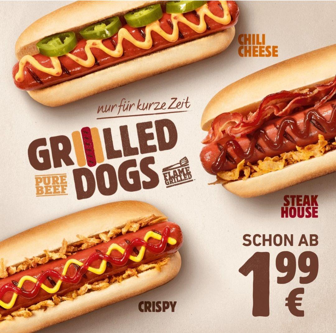 [BurgerKing] Grilled Dogs wieder verfügbar für 1,99€