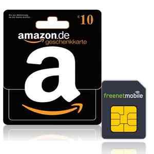 10 Euro Amazon Gutschein mit einer SIM Card mit 2 Euro Guthaben